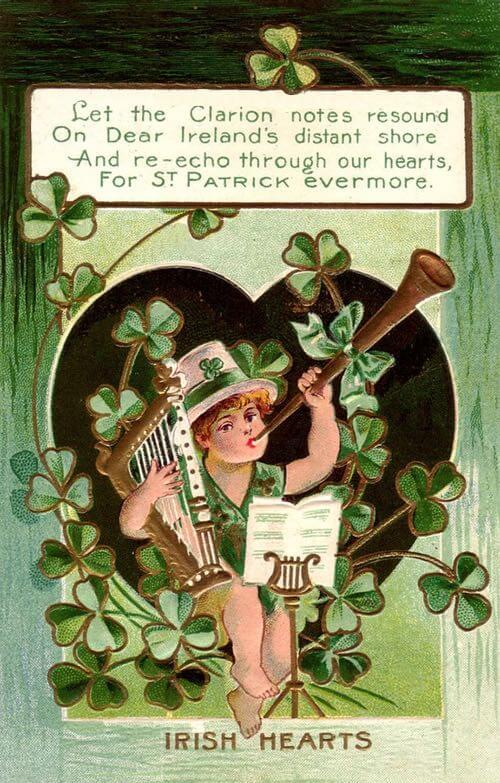 Irish Hearts Greeting c.1915