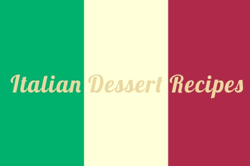 Italian National Flag with Desserts