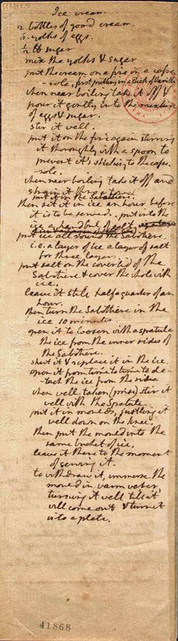 The Original Thomas Jefferson Ice Cream Recipe