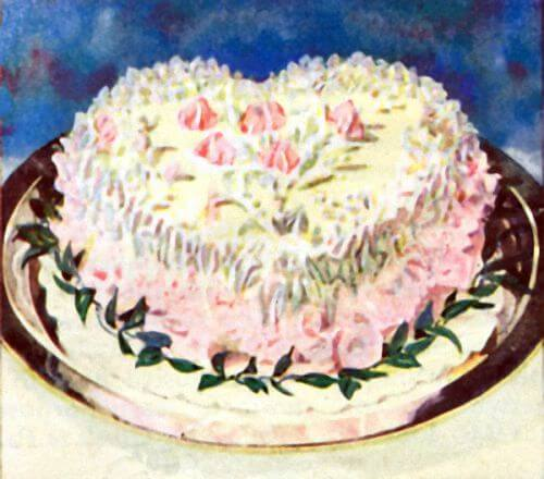 White Wedding Cake Recipe Pink and White Brides Cake