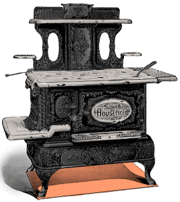 Old Fashioned Cast Iron Kitchen Cook Stove