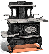 Old Fashioned Wood Stove Oven