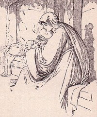 Illustration of Madonna and Child
