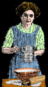 Vintage Housewife Making Cookies