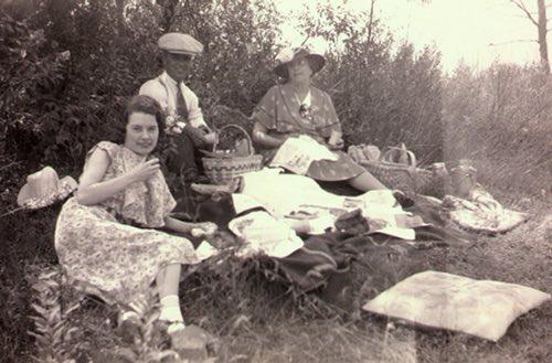 McIlmoyle Family Enjoying a Roadside Picnic in the 1930s