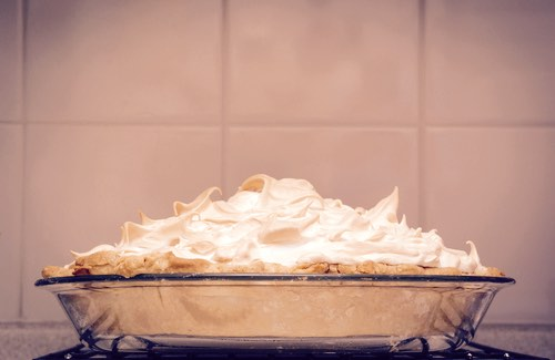 Homemade Pie with a Meringue Topping
