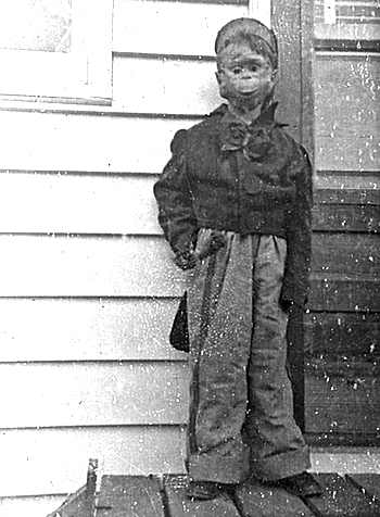 Homemade Halloween Monkey Costume 1955