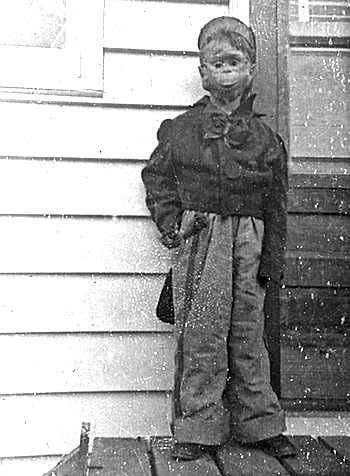 Homemade Halloween Monkey Costume 1955