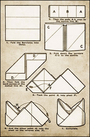 Folding Table Napkins : Napkin Folding Instructions Printable  Party Invitations Ideas