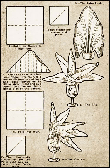 Napkin Folding Ideas The Palm The Lily The Cactus