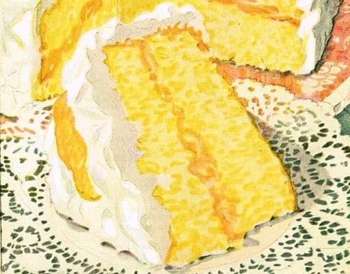 Orange Cream Cake Slice