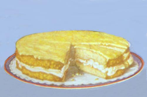 Orange Cream Layer Cake