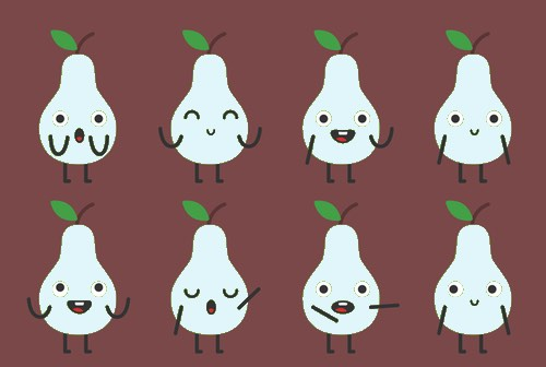 Pear Ghosts with Personalities