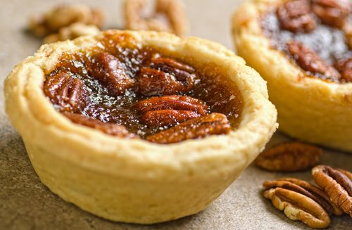 Homemade Butter Tart with Whole Pecans