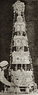Royal Wedding Cake for Duke and Duchess of Kent in 1934