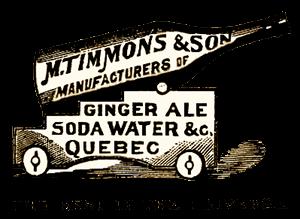 Antique Quebec Ginger Ale Sign