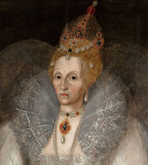 Portrait of Queen Elizabeth I c.1595, by Marcus Gheeraerts the Younger