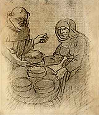 Historical Illustration of Renaissance Pie Making