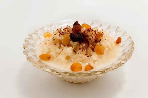 Rice Pudding with Raisins