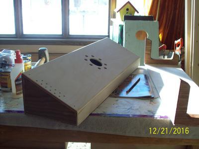 Aeolian Harp Sound Box of 1/4'' Birch Plywood