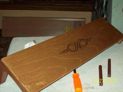 Aeolian Harp Lid with Burnt Design