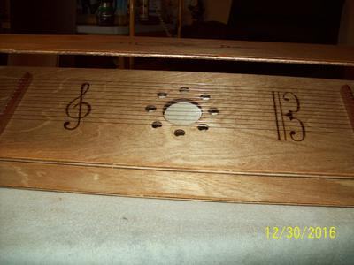 Top of Aeolian Harp Sound Box and Lid