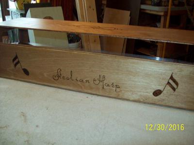 Back of Aeolian Harp Sound Box