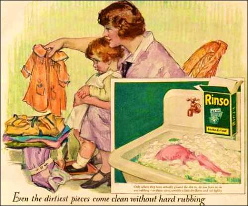 Rinso Soap Illustration from the 1920s