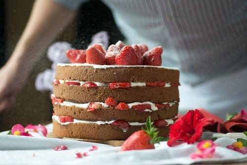 Royal Strawberry Cake