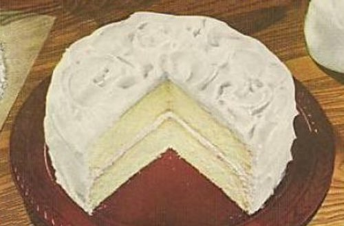 Homemade Silver Layer Cake