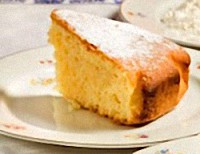 Slice of Italian Margherita Cake