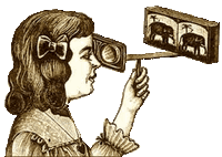 Girl with an Antique Stereoscope