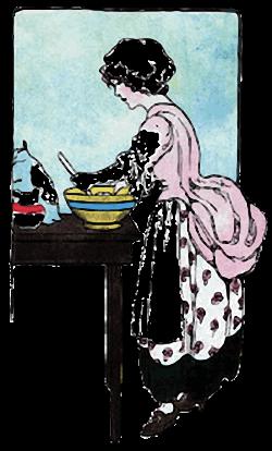 Girl Stirring the White Cake Batter