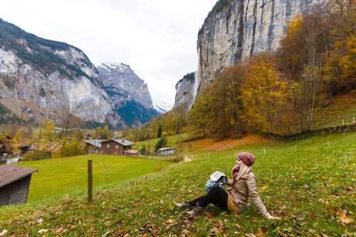 Swiss Alps Scenery
