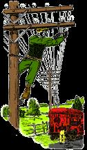 Telephone Lineman Illustration