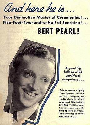 The Happy Gang's Bert Pearl