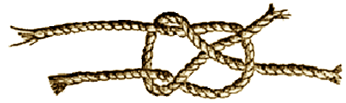 Illustration of the Sheet Bend Knot