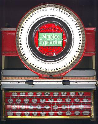Simplex Typewriter Keyboard