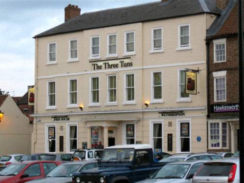 View of the Three Tuns Hotel, Thirsk, North Yorkshire, England
