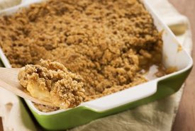 Apple Crisp with a Sugar Crust