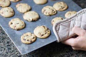 Homemade Cookies on a Baking Sheet
