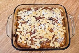 Banana Cake Still in its Glass Baking Dish