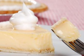 Slice of Banana Cream Pie with Whipped Cream Topping