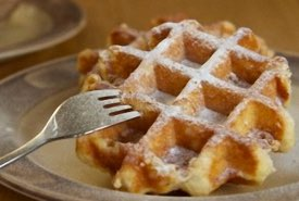 Belgian Waffle Dusted with Powdered Sugar