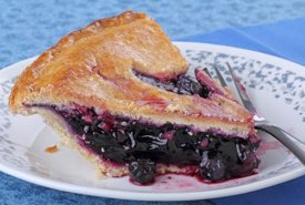 Slice of Old Fashioned Blueberry Pie