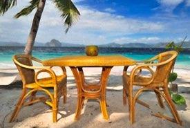 Caribbean Seaside Beach Dining