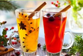 Glasses of Christmas Punch
