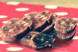 Sliced Pieces of Date Roll Candy