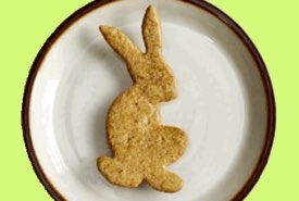 Easter Rabbit Cookie on a Plate