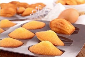 French Madeleine Cookies in a Baking Pan